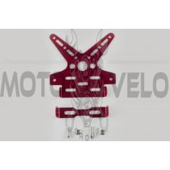 Рамка для крепления номера и поворотников с регулируемым углом наклона (красная) XJB