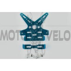 Рамка для крепления номера и поворотников с регулируемым углом наклона (синяя) XJB