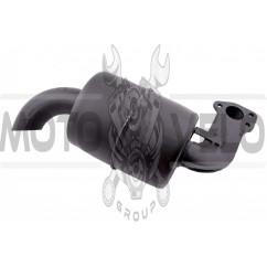 Глушитель м/б 190N (12Hp) (круглый, крепления на 2 болта, без колена)