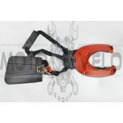 Ремень плечевой профессиональный мотокосы (красный)