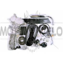 Двигатель велосипедный (в сборе)   80сс   (бак, ручка газа, звезда, цепь, без стартера)   EVO