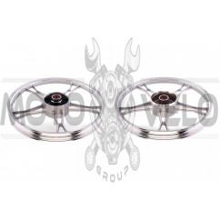 Диск колеса 1,4 * 17 (зад, барабан) (легкосплавный) Delta MANLE