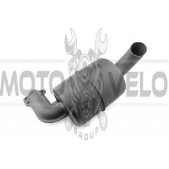 Глушитель м/б   190N   (12Hp)   (круглый, крепления на 2 болта, без колена)   ST