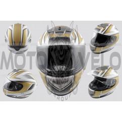 Шлем-интеграл (mod:368) (size:L, бело-золотой) LS-2