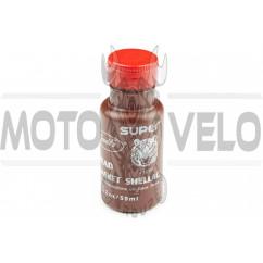 Клей для прокладок цилиндра (шеллак) 30мл (термостойкий, коричневый) VISBELLA