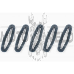 Элемент воздушного фильтра мотокосы круглый (поролон с пропиткой, 5шт) (черный) AS