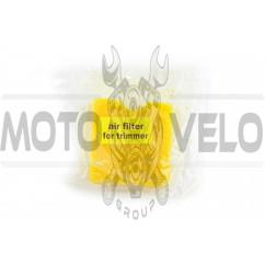 Элемент воздушного фильтра мотокосы квадратный (поролон с пропиткой) (желтый) AS