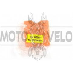 Элемент воздушного фильтра мотокосы квадратный (поролон с пропиткой) (красный) AS