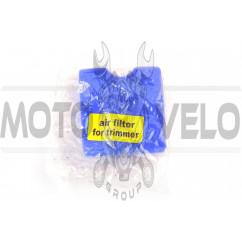 Элемент воздушного фильтра мотокосы квадратный (поролон с пропиткой) (синий) AS