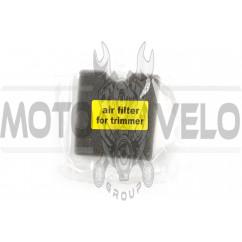Элемент воздушного фильтра мотокосы квадратный (поролон сухой) (черный) AS