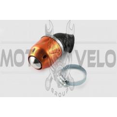 Фильтр воздушный (нулевик) Ø35mm, 45*, пуля (оранжевый)