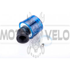 Фильтр воздушный (нулевик) Ø28/40mm, 45* (колокол, синий, прозрачный) KM (mod:KY-A-088)