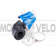 Фильтр воздушный (нулевик) Ø28/48mm (синий) KM (mod:KY-A-179)