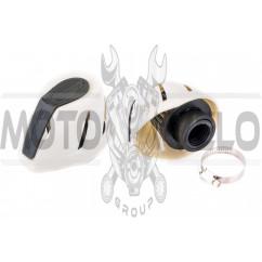Фильтр воздушный (нулевик) Ø28/48mm (белый) KM (mod:KY-A-181)