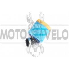 Фильтр воздушный (нулевик, поролон) Ø35mm, 45* (mod:4, сине-оранжевый) AS
