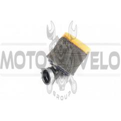 Фильтр воздушный (нулевик, поролон) Ø35mm, 45* (mod:4, черно-оранжевый) AS