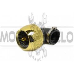 Фильтр воздушный (нулевик) Ø35mm, 90*, турбина (золото)