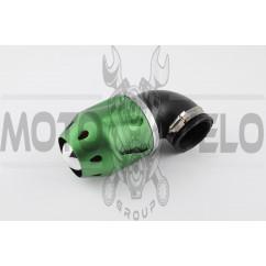 Фильтр воздушный (нулевик) Ø42mm, 90*, пуля (зеленый)
