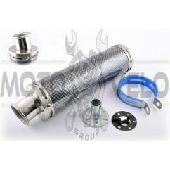 Глушитель (тюнинг) 300*90mm, креп. Ø48mm (нержавейка, карбон mod:1, прямоток, тип:1)