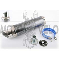 Глушитель (тюнинг) 300*90mm, креп. Ø48mm (нержавейка, карбон mod:1, прямоток, тип:3)