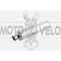 Глушитель (тюнинг) 420*100mm, креп. Ø78mm (нержавейка, серебро, без креплений, mod:55)