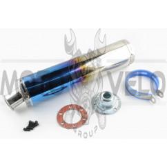 Глушитель (тюнинг) 420*100mm, креп. Ø78mm (нержавейка, каленый, прямоток, mod:1)