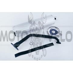 Глушитель 4T GY6 125/150 (+колено под 12) (прокладки) KOMATCU
