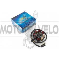 Статор генератора 4T GY6 50 (6+2 катушек, 5 контактов) KOMATCU