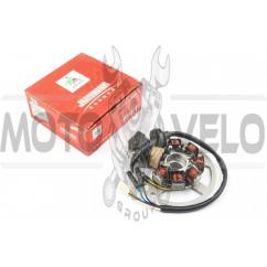 Статор генератора Yamaha JOG 50 (6+1 катушек, 6 проводов) (датчик холла на один провод) JIANXING