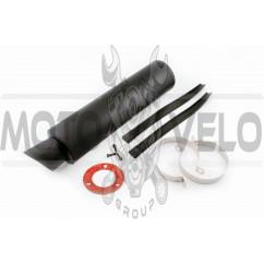Глушитель (тюнинг) 420*110mm, креп. Ø78mm (гравитекс, черный, прямоток, mod:6)
