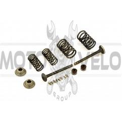 Клапаны (пара, в сборе) 4T GY6 50 (L-64.3mm) ZUNA