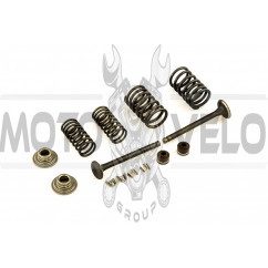 Клапаны (пара, в сборе) 4T GY6 50 (L-64.3mm) MANLE
