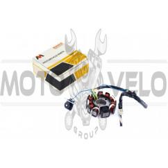 Статор генератора 4T GY6 125/150 (10+1 катушек) MANLE