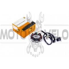Статор генератора 4T GY6 50 (6+2 катушек, 5 контактов) HORZA