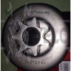 Тарелка сцепления б/п (звезда ведущая) для Goodluck GL3800 HORZA