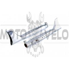 Глушитель (тюнинг) 440*96mm (нержавейка, сопло, прямоток) 118