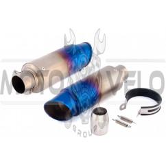 Глушитель (тюнинг) 460*130mm (нержавейка, овал, радуга, прямоток) 118