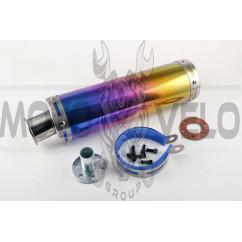 Глушитель (тюнинг)   300*90mm, креп. Ø48mm   (нержавейка, радуга, прямоток, mod:38)   KOMATCU   (mod.A), шт