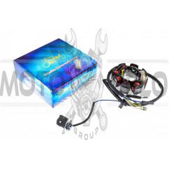Статор генератора   4T GY6 50   (6+2 катушек, 5 контактов)   KOMATCU   (mod.A), шт