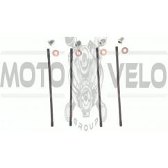 Шпильки цилиндра (4шт)   4T CB125/150   (+гайки)   KOMATCU   (mod.A), компл.