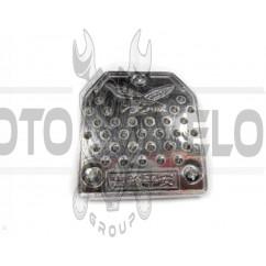 Накладка педали тормоза   (универсальная)   (L-72mm, S-63mm)   (металл, хром, шипы)   DVK