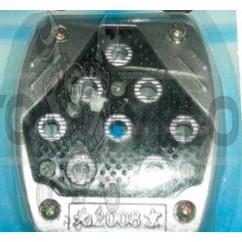 Накладка педали тормоза   (универсальная)   (L-85mm, S-72mm)   (металл, резиновая вставка, шипы)   DVK