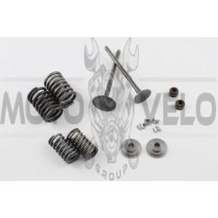 Клапаны (пара, в сборе) 4T CG125 (L-93.5mm)