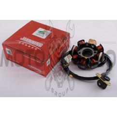 Статор генератора 4T GY6 125/150 (7+1 катушка) JIANXING