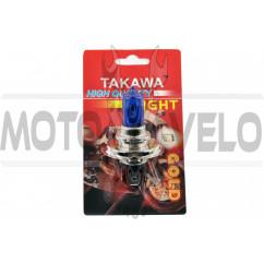 Лампа H4 (авто) 12V 35W/35W (ультра белая) (блистер) TAKAWA