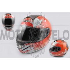 Шлем-интеграл (mod:550) (premium class) (size:XL, бело-красный) Ш109 KOJI