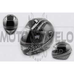 Шлем-интеграл (mod:550) (premium class) (size:XL, серо-черный) Ш96 KOJI