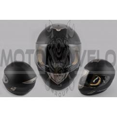 Шлем-интеграл (mod:366) (size:XXL, черный матовый) LS-2