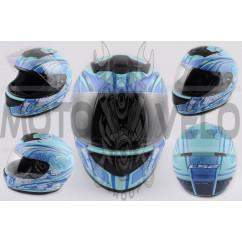 Шлем-интеграл (mod:Stardust) (size:L, голубой матовый) LS-2