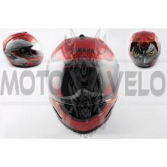 Шлем-интеграл (mod:HAWK) (size:XL, красный) Ш3 YMH